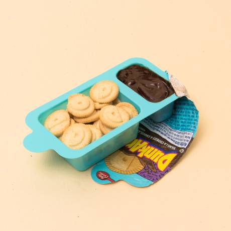 Dunkaroos with chocolate frosting